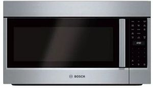 """HMVP053U 30"""" Bosch Benchmark Series Over the Range Microwave Convection Microwave Oven with 385 CFM and LED Illumination - Stainless Steel"""