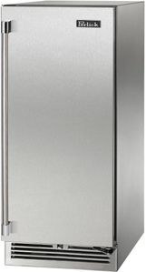 """HP15RS41R Perlick 15"""" Signature Series Undercounter Refrigerator with Stainless Steel Solid Door - Right Hinge"""