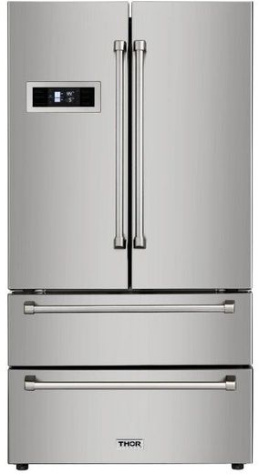 "HRF3601F Thor Kitchen 36"" Professional Counter Depth Freestanding French Door Refrigerator - Stainless Steel"