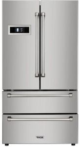 """HRF3601F Thor Kitchen 36"""" Professional Counter Depth Freestanding French Door Refrigerator - Stainless Steel"""