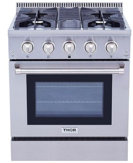 "HRG3080U Thor Kitchen 30"" Professional Gas Range with 4 Sealed Burners - Stainless Steel"