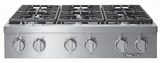 "HRTP486SLP Dacor 48"" Heritage Collection 6 Burner Liquid Propane Gas Rangetop with Illumina Burner Controls and SimmerSear Burners - Stainless Steel"