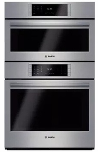 """HSLP751UC 30"""" Bosch Benchmark Series Speed Steam Microwave Combination Wall Oven with European Convection and 14 Cooking Modes - Stainless Steel"""