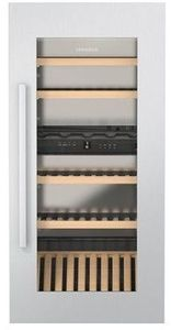 """HW4800 Liebherr 24"""" Built-In Fully Integrated Wine Cabinet with SoftSystem and Presentation Shelf - Stainless Steel"""