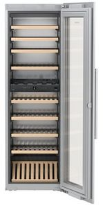 "HW8000 Liebherr 24"" Built-In Fully Integrated Wine Cabinet with SoftSystem and Presentation Shelf - Custom Panel"