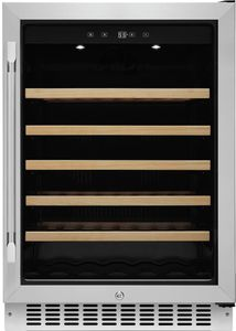 """HWC241R Dacor 24"""" Professional Single Zone Right Hinge Wine Cellar with EasyGlide Racks and Dynamicclimate Mode  - Stainless Steel"""