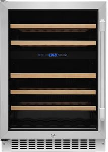 """HWC242L Dacor 24"""" Heritage Collection Dual Zone Left Hinge Wine Cellar with EasyGlide Racks and Dynamicclimate Mode  - Stainless Steel"""
