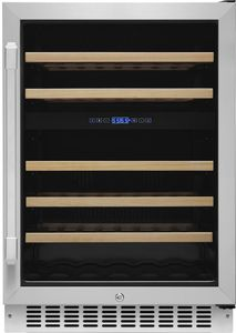 """HWC242R Dacor 24"""" Heritage Collection Dual Zone Right Hinge Wine Cellar with EasyGlide Racks and Dynamicclimate Mode  - Stainless Steel"""