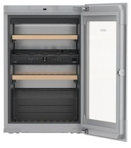 """HWGB3300 Liebherr 24"""" Built-In Fully Integrated Wine Cabinet with SoftSystem and TipOpen Technology - Black"""