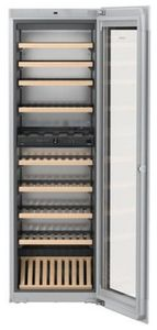 """HWGB8300 Liebherr 24"""" Built-In Fully Integrated Wine Cabinet with SoftSystem and TipOpen Technology - Black"""