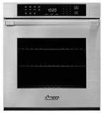 "HWO127PB Dacor 27"" Heritage Collection Pro Style Handle Electric Single Wall Oven with GreenClean Steam Cleaning Technology and SoftShut Hinges - Black"