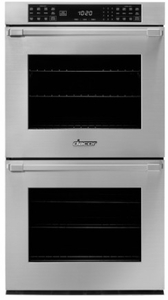 "HWO230PB Dacor 30"" Heritage Collection Pro Style Handle Electric Double Wall Oven with GreenClean Steam Cleaning Technology and SoftShut Hinges - Black"