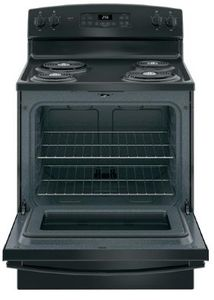 "JB256DMBB GE 30"" Freestanding Electric Range with SensiTemp Technology and SelfClean Over - Black"