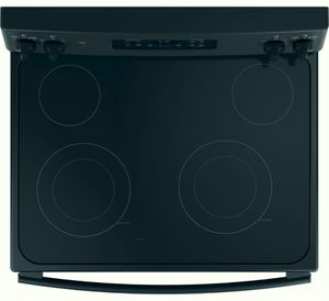 "JB645DKBB GE 30"" Freestanding Electric Range with Ceramic Glass Cooktop - Black"