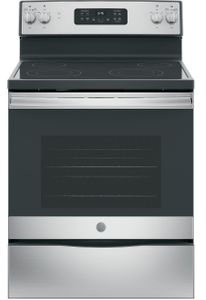"""JB645RKSS GE 30"""" Freestanding Electric Range with Ceramic Glass Cooktop - Stainless Steel"""