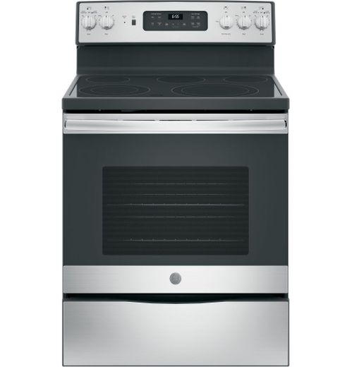 "JB655SKSS GE 30"" Freestanding Electric Range with Convection & Fifth Element - Stainless Steel"