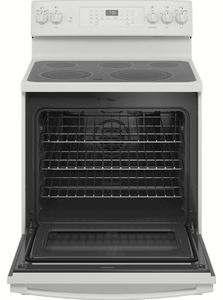 "JB735DPWW GE 30"" Freestanding Electric Convection Range with Air Fry - White"