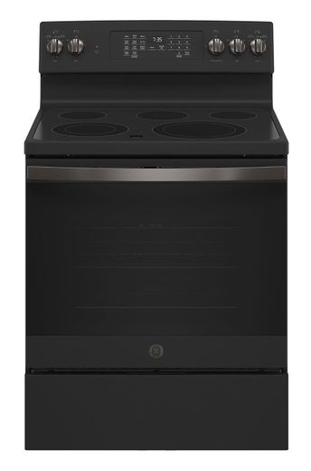 "JB735FPDS GE 30"" Freestanding Electric Convection Range with Air Fry - Black Slate"