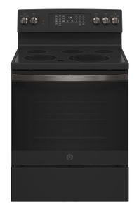 """JB735FPDS GE 30"""" Freestanding Electric Convection Range with Air Fry - Black Slate"""