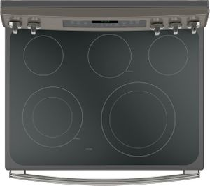 "JB750EJES GE 30"" Free-Standing Electric Convection Range with Precise Air - Slate"