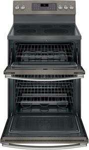 """JB860EJES GE 30"""" Free-Standing Electric Double Oven Convection Range - Slate"""