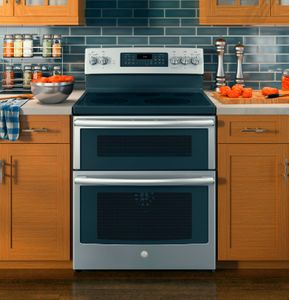 """JB860SJSS GE 30"""" Free-Standing Electric Double Oven Convection Range - Stainless Steel"""