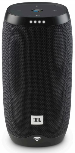 JBLLINK10BLKUS JBL Link 20 Voice Activated Portable Speaker with Built In Chromecast and Wireless Bluetooth Streaming - Black