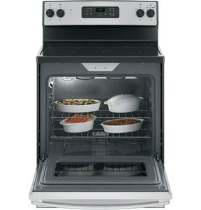 "JBS60RKSS GE 30"" Free-Standing Electric Range with 5.3 cu. ft. Capacity and Dual-Element Bake - Stainless Steel"