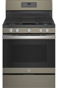 "JGB660EPES GE 30"" Freestanding Gas Range with PowerBoil Burner - Slate"