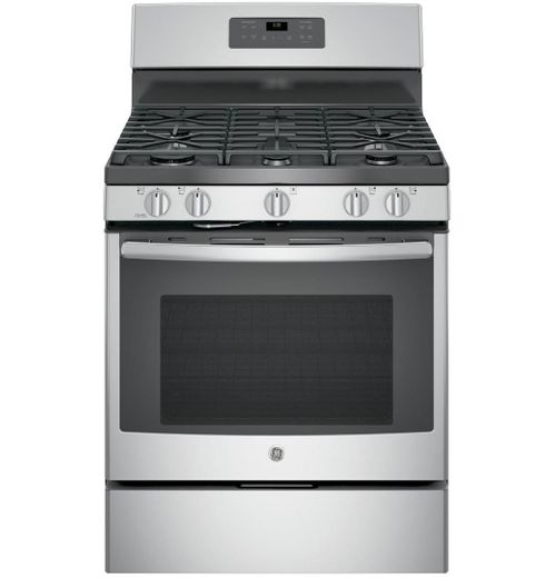 "JGB660SEJSS GE 30"" Free-Standing Gas Range with Edge-to-edge Cooktop - Stainless Steel"