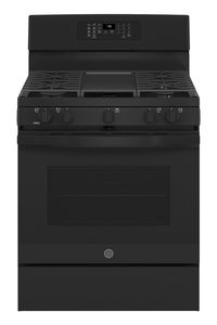 "JGB735DPBB GE 30"" Freestanding Gas Convection Range with Air Fry - Black"