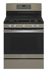 """JGB735EPES GE 30"""" Freestanding Gas Convection Range with Air Fry - Slate"""
