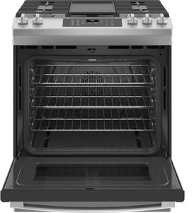 """JGS760SPSS GE 30"""" Slide-In Front Control Convection Gas Range with No Preheat Air Fry and Self-Clean - Stainless Steel"""