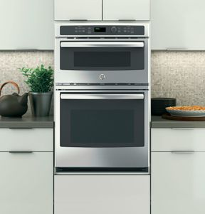 """JK3800SHSS GE 27"""" Built-In Combination Microwave/Thermal Wall Oven with Upper Sensor Controls - Stainless Steel"""
