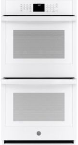 """JKD3000DNWW GE 27"""" Electric Built-In Double Wall Oven with Never Scrub Heavy Duty Racks and Self Clean - White"""