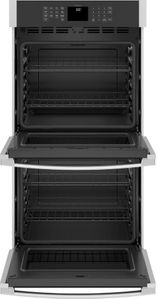 "JKD3000SNSS GE 27"" Electric Built-In Double Wall Oven with Never Scrub Heavy Duty Racks and Self Clean - Stainless Steel"