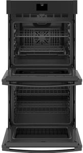 "JKD5000DNBB GE 27"" Built-In Electric Double Wall Oven with True European Convection and Self Clean - Black"