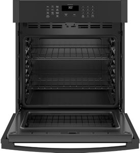 "JKS3000DNBB GE 27"" Electric Built-In Single Wall Oven with Never Scrub Heavy Duty Racks and Self Clean - Black"
