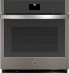 """JKS5000ENES GE 27"""" Built-In Electric Single Wall Oven with True European Convection and Self Clean - Slate"""
