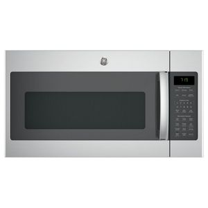 """JNM7196SKSS GE 30"""" 1.9 cu. ft. Over-the-Range Microwave with 1,000 Watts, 10 Power Levels and Melt Feature - Stainless Steel"""