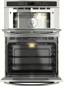 "JT3800SHSS GE 30"" Built-In Combination Microwave/Thermal Wall Oven with Upper Sensor Controls - Stainless Steel"