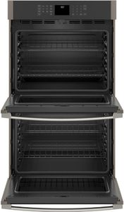"JTD3000ENES GE 30"" Electric Built-In Double Wall Oven with Never Scrub Heavy Duty Racks and Self Clean - Slate"