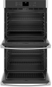 "JTD3000SNSS GE 30"" Electric Built-In Double Wall Oven with Never Scrub Heavy Duty Racks and Self Clean - Stainless Steel"