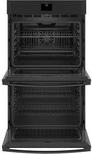 "JTD5000DNBB GE 30"" Electric Built-In Double Wall Oven with True European Convection and Self Clean - Black"