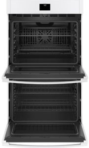 """JTD5000DNWW GE 30"""" Electric Built-In Double Wall Oven with True European Convection and Self Clean - White"""