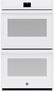 "JTD5000DNWW GE 30"" Electric Built-In Double Wall Oven with True European Convection and Self Clean - White"
