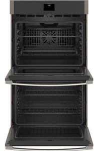 "JTD5000ENES GE 30"" Electric Built-In Double Wall Oven with True European Convection and Self Clean - Slate"