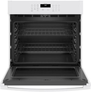 """JTS3000DNWW GE 30"""" Electric Built-In Single Wall Oven with Never Scrub Heavy Duty Racks and Self Clean - White"""