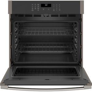 """JTS3000ENES GE 30"""" Electric Built-In Single Wall Oven with Never Scrub Heavy Duty Racks and Self Clean - Slate"""