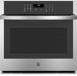 """JTS3000SNSS GE 30"""" Electric Built-In Single Wall Oven with Never Scrub Heavy Duty Racks and Self Clean - Stainless Steel"""